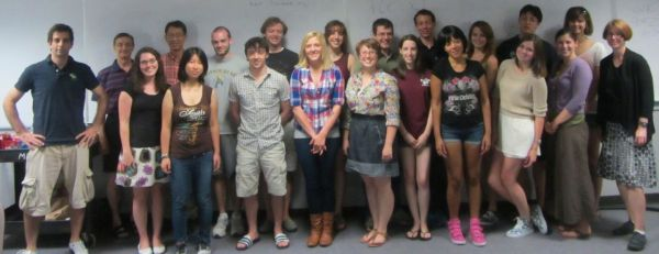 REU students and mentors, summer 2013