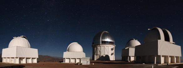 Cerro Tololo Inter-American Observatory (CTIO), Nick Suntzeff's astronomical home for 20 years prior to coming to Texas A&M. (Credit: Tim Abbott, CTIO.)
