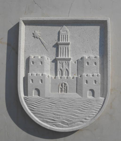 City seal of Trogir, Croatia. (Credit: Nick Suntzeff.)