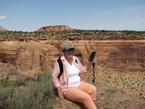 Our G-Camp tour guide, Carolyn Schroeder, pictured here at Otto's Point, Colorado.