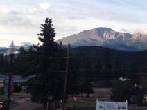 We could actually see Pikes Peak this morning! It's beautiful and cool as we travel through the mountains toward Twin Lakes and then on to Leadville. We are traveling through terminal, recessional and lateral moraines formed at the end of the Ice Age about 10,000 years ago.
