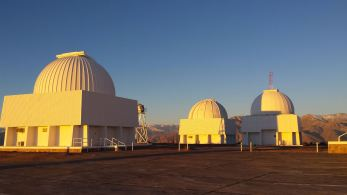 The 0.9m telescope is on the left. This is the telescope we used for the Calan/Tololo photometry of bright supernovae.