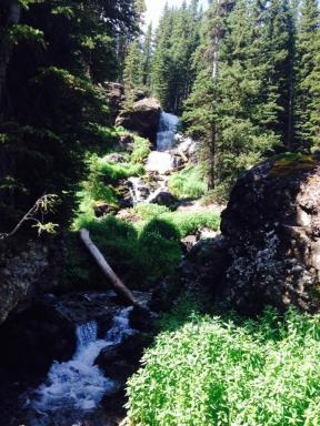 Streams and waterfalls.