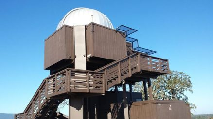 The Stanford Student Observatory we built in 1972-74. We built everything from scratch. An architecture student did the design, and a SeaBee studying at Stanford did the dangerous stuff, like raising a 25-foot pier with a 25-foot crane. He was sort of insane.
