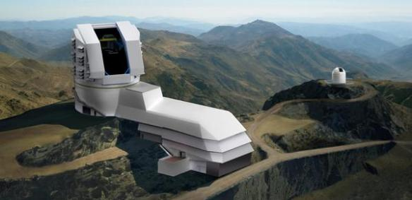 Artist's rendering of the Large Synoptic Survey Telescope. (Credit: National Science Foundation).